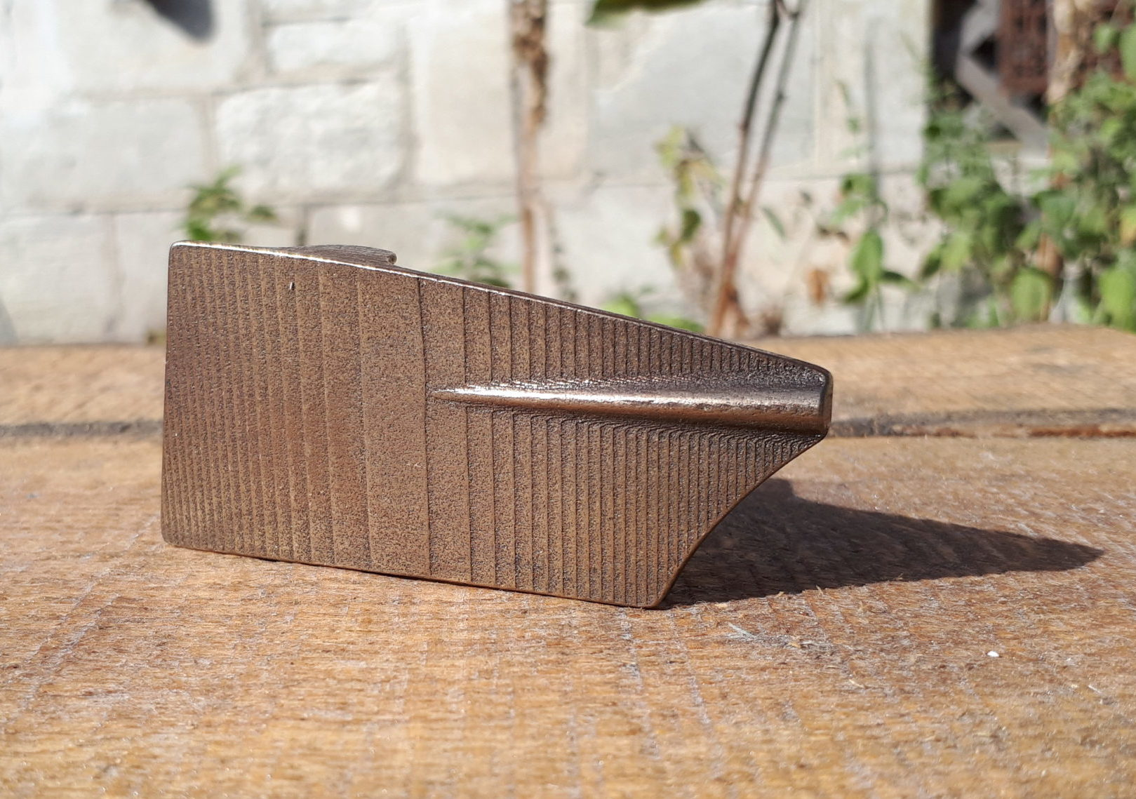 Modern rowing oar belt buckle 3d printed in steel